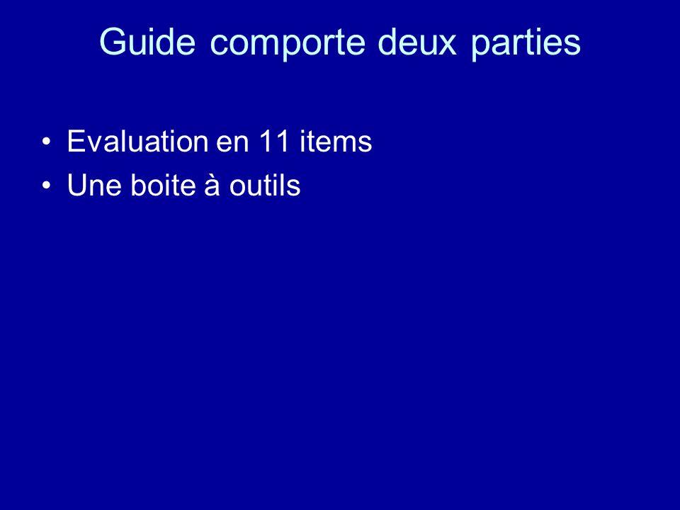 Guide comporte deux parties