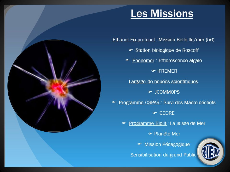 Les Missions Ethanol Fix protocol : Mission Belle-Ile/mer (56)