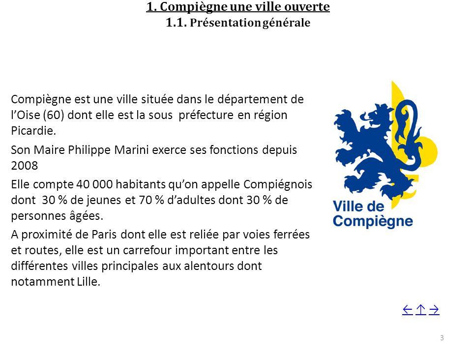 1. Compiègne une ville ouverte 1.1. Présentation générale