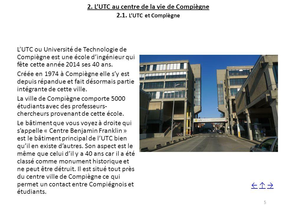 2. L'UTC au centre de la vie de Compiègne 2.1. L'UTC et Compiègne