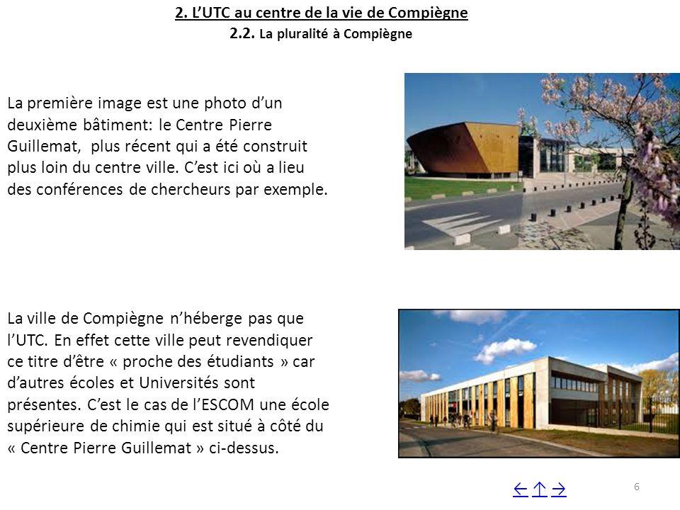 2. L'UTC au centre de la vie de Compiègne 2. 2