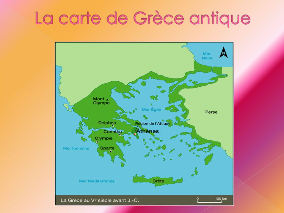 La carte de Grèce antique