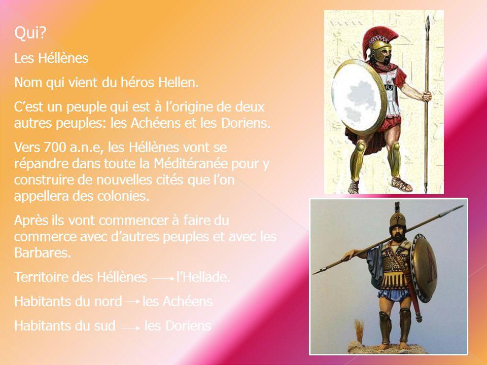 Qui Les Héllènes Nom qui vient du héros Hellen.