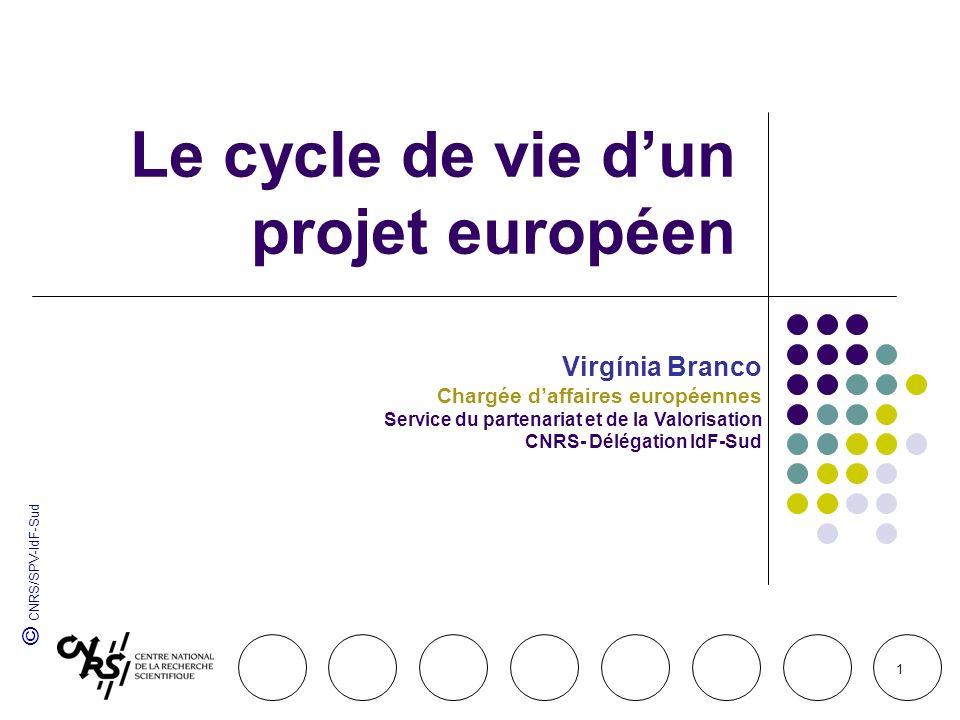 Le cycle de vie d'un projet européen
