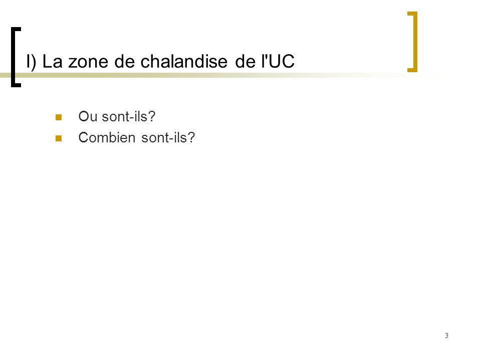 I) La zone de chalandise de l UC