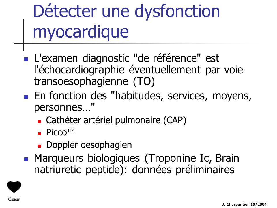 Détecter une dysfonction myocardique