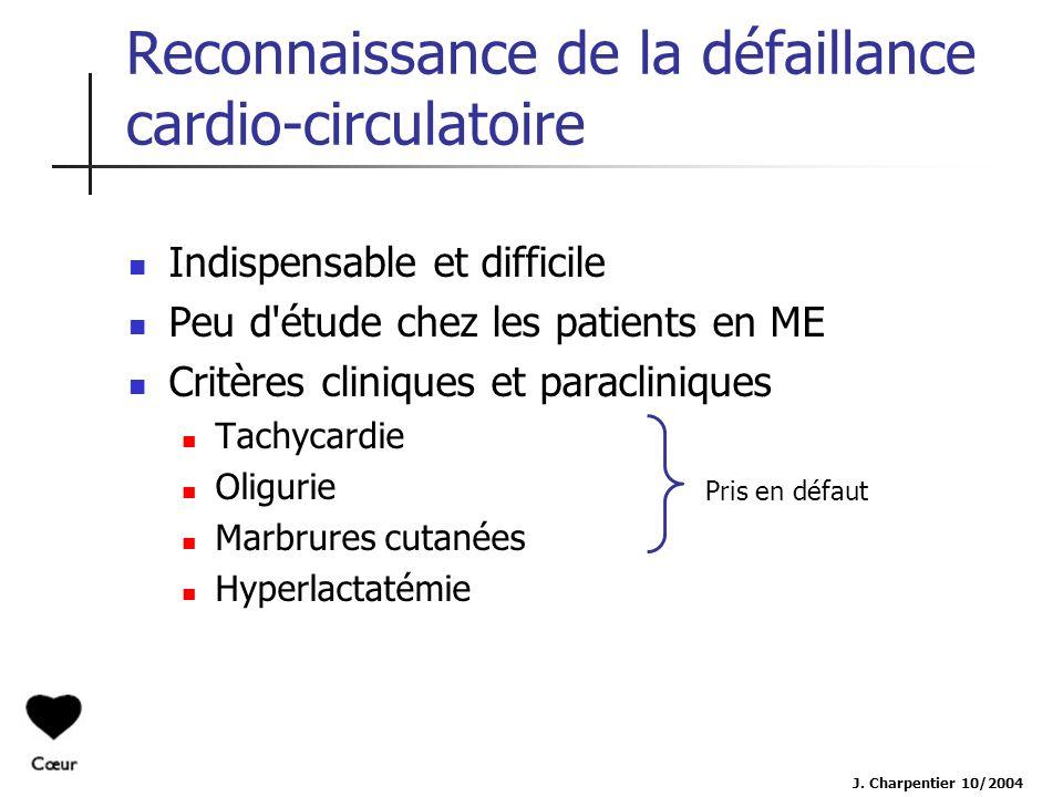Reconnaissance de la défaillance cardio-circulatoire