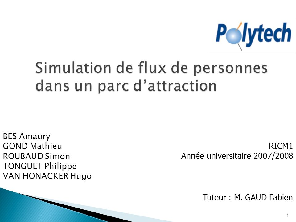 Simulation de flux de personnes dans un parc d'attraction