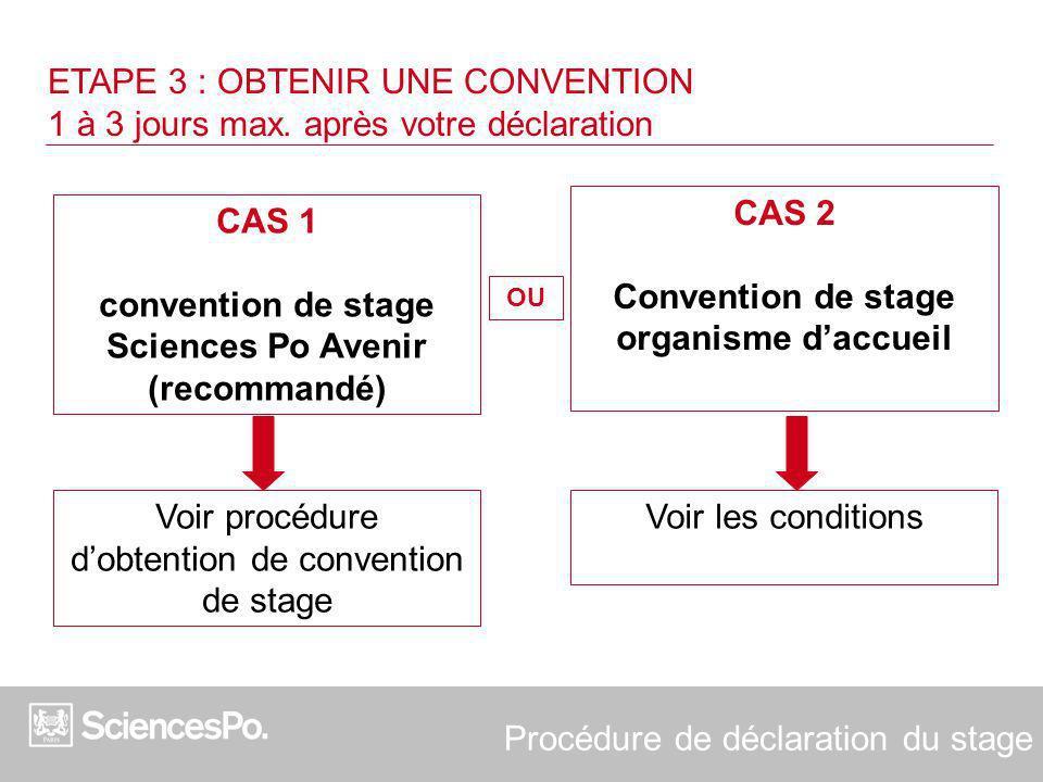 CAS 2 Convention de stage organisme d'accueil