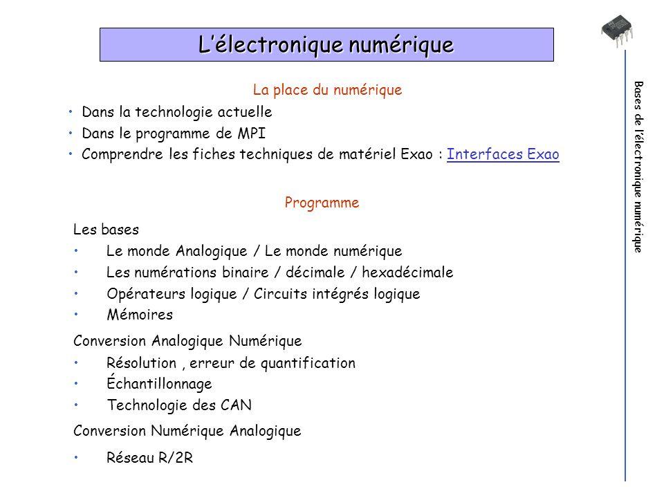 L'électronique numérique