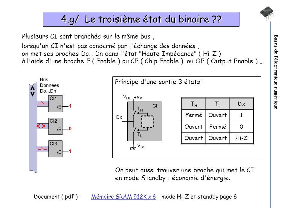 4.g/ Le troisième état du binaire