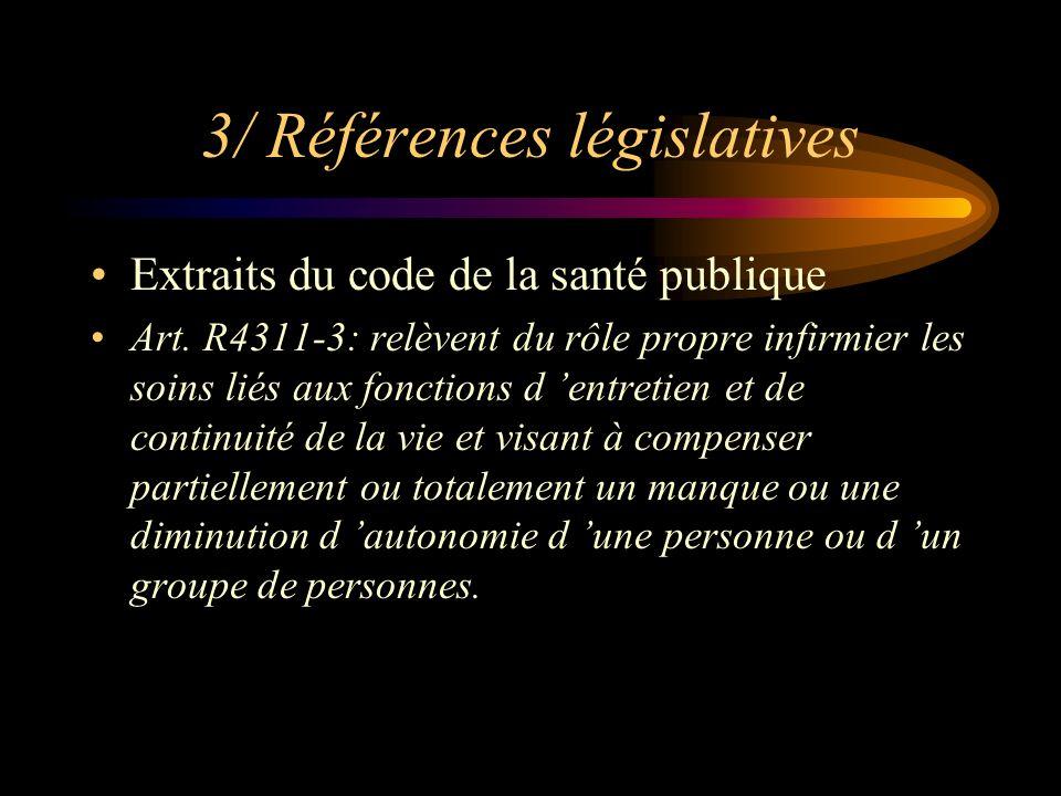 3/ Références législatives