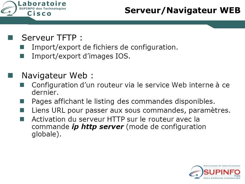 Serveur/Navigateur WEB