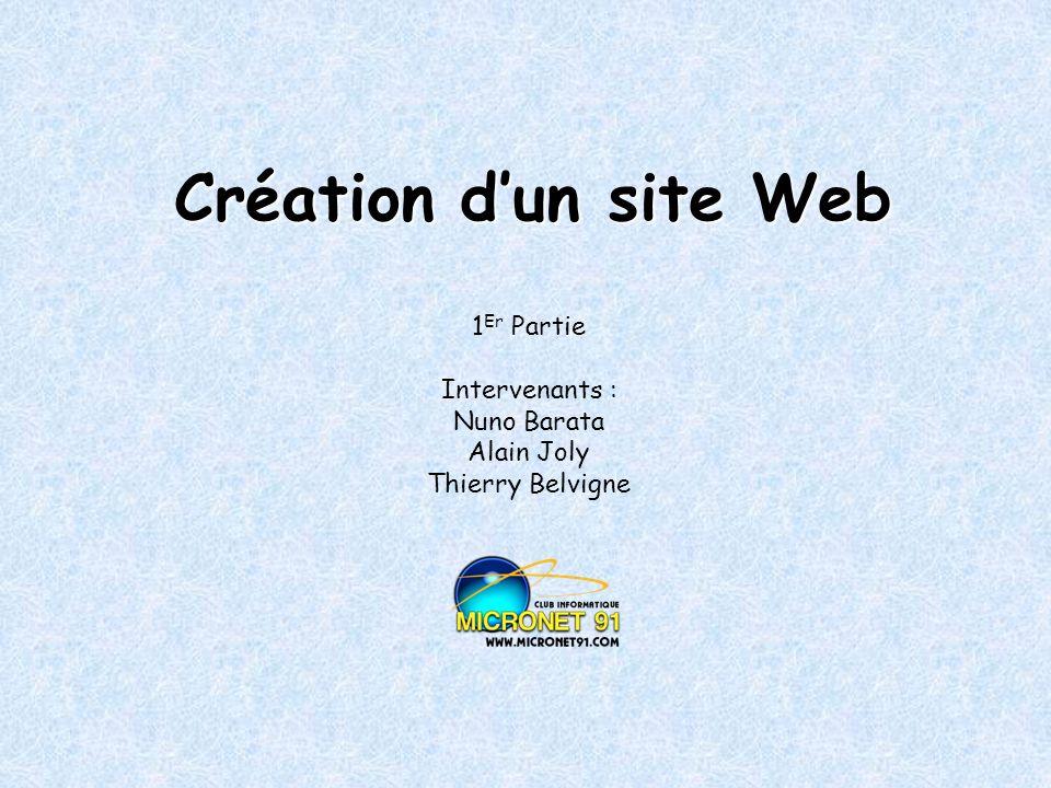 1Er Partie Intervenants : Nuno Barata Alain Joly Thierry Belvigne