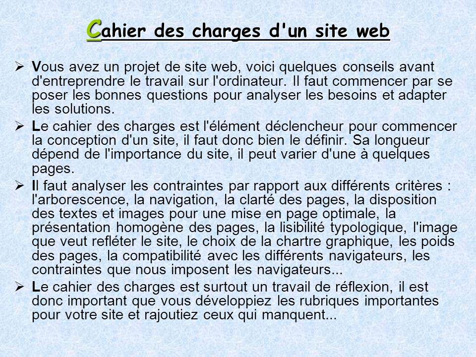 Cahier des charges d un site web