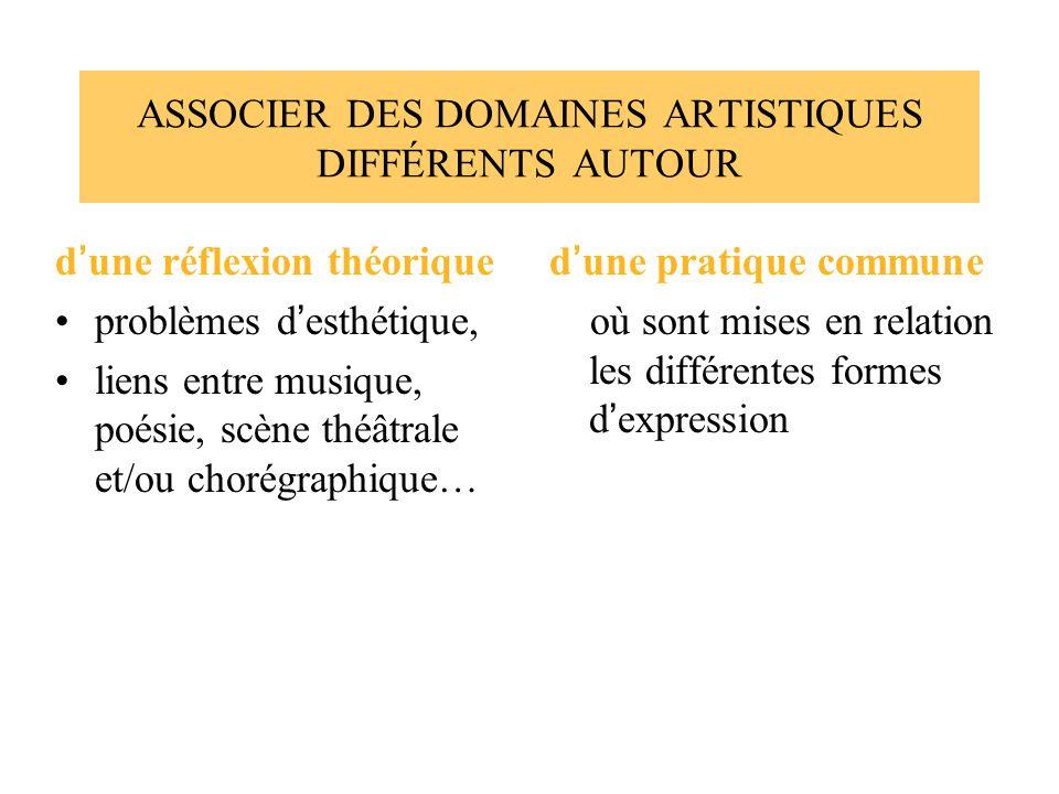 ASSOCIER DES DOMAINES ARTISTIQUES DIFFÉRENTS AUTOUR