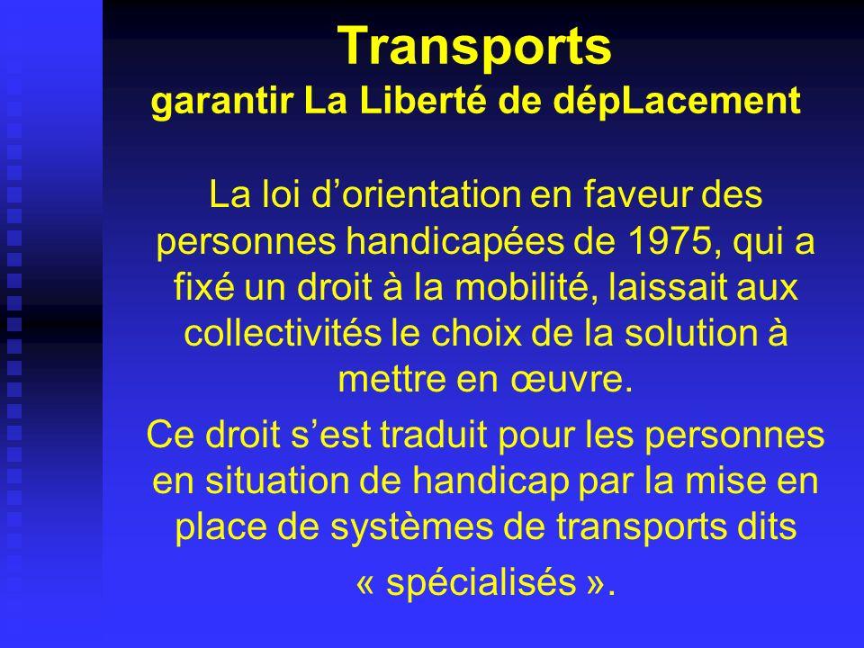Transports garantir La Liberté de dépLacement