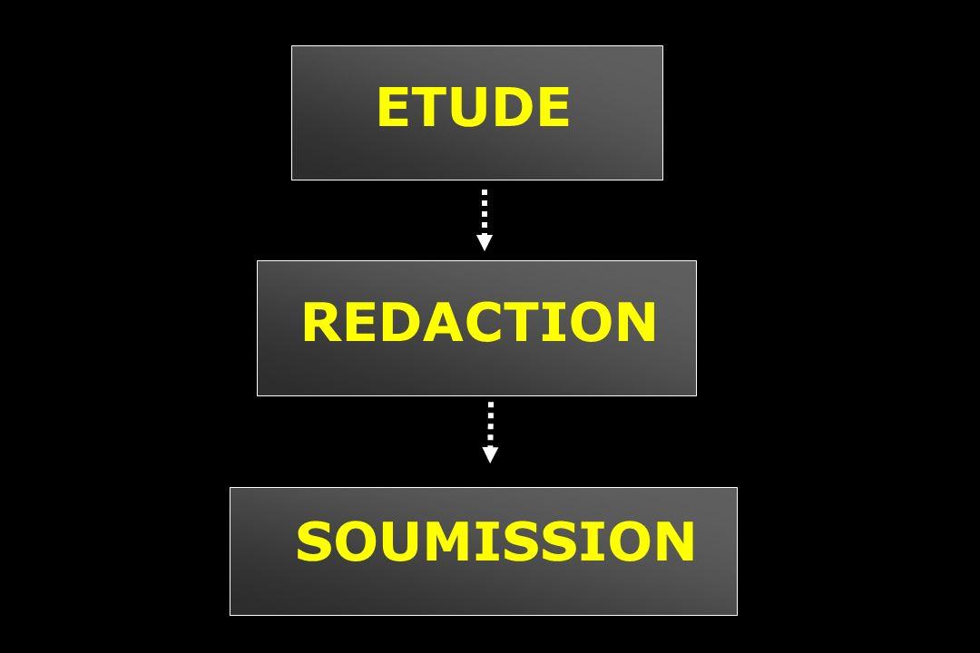 ETUDE REDACTION SOUMISSION
