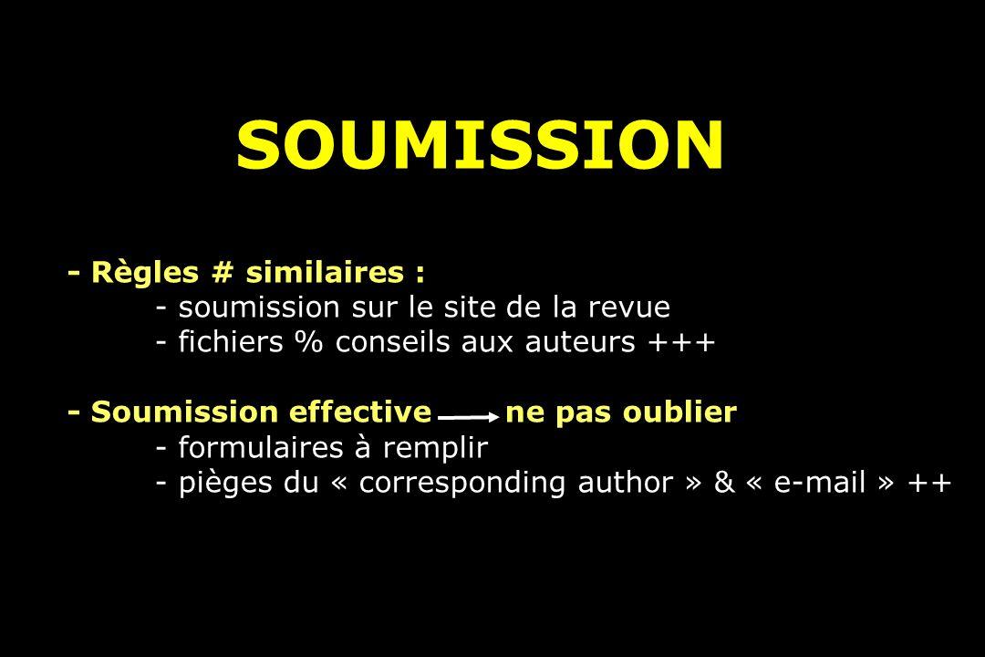 SOUMISSION - Règles # similaires :