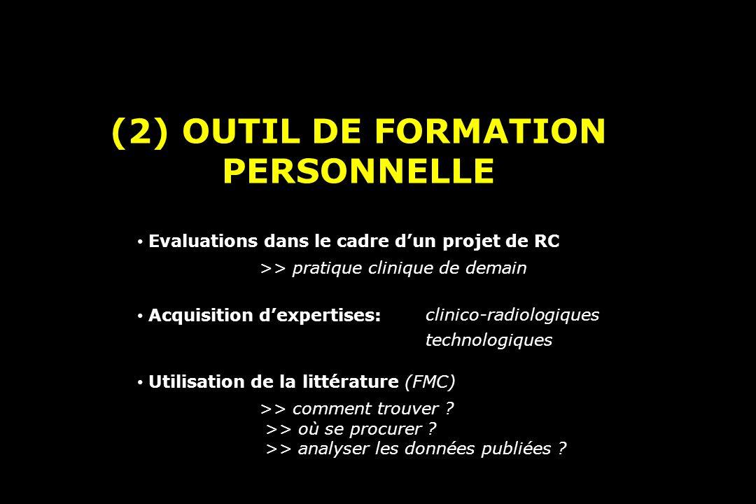 (2) OUTIL DE FORMATION PERSONNELLE