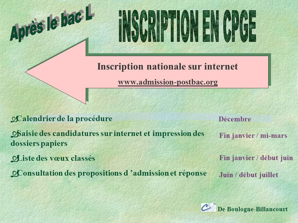 Inscription nationale sur internet