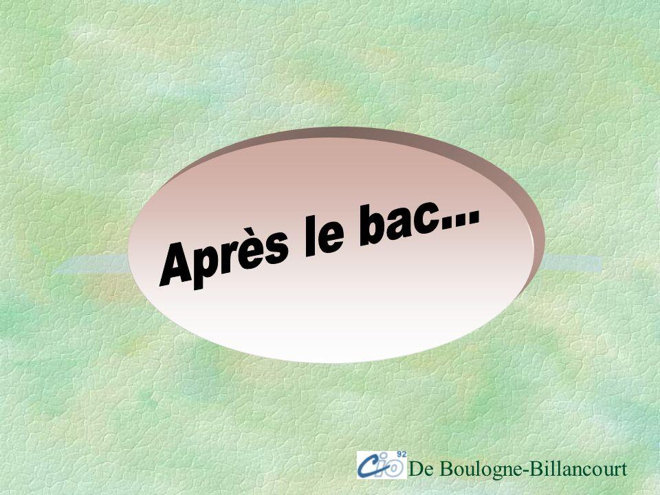 Après le bac... De Boulogne-Billancourt