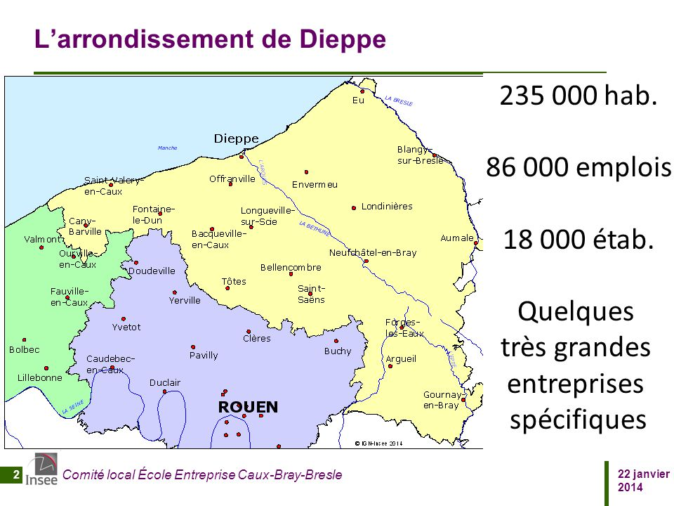 L'arrondissement de Dieppe