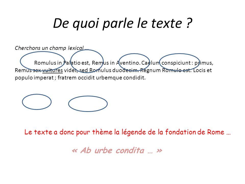 De quoi parle le texte « Ab urbe condita … »