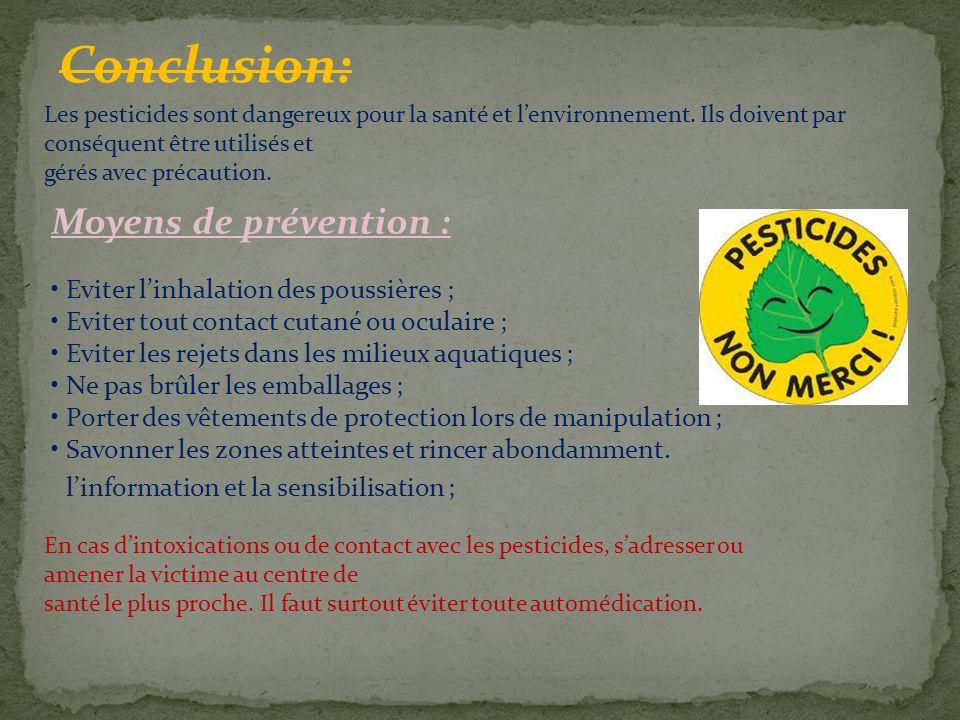 Conclusion: Moyens de prévention :