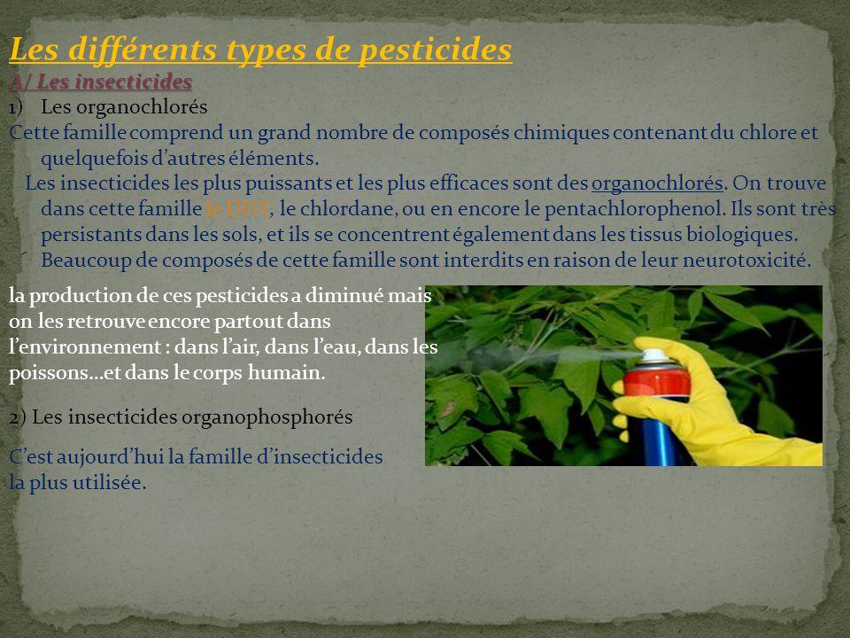 Les différents types de pesticides