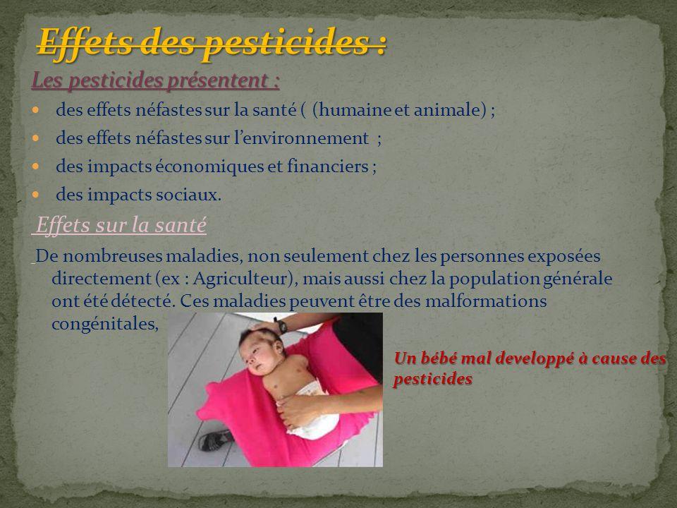 Effets des pesticides :