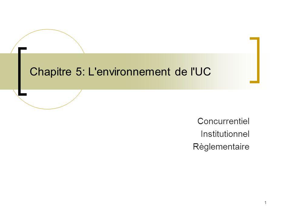 Chapitre 5: L environnement de l UC