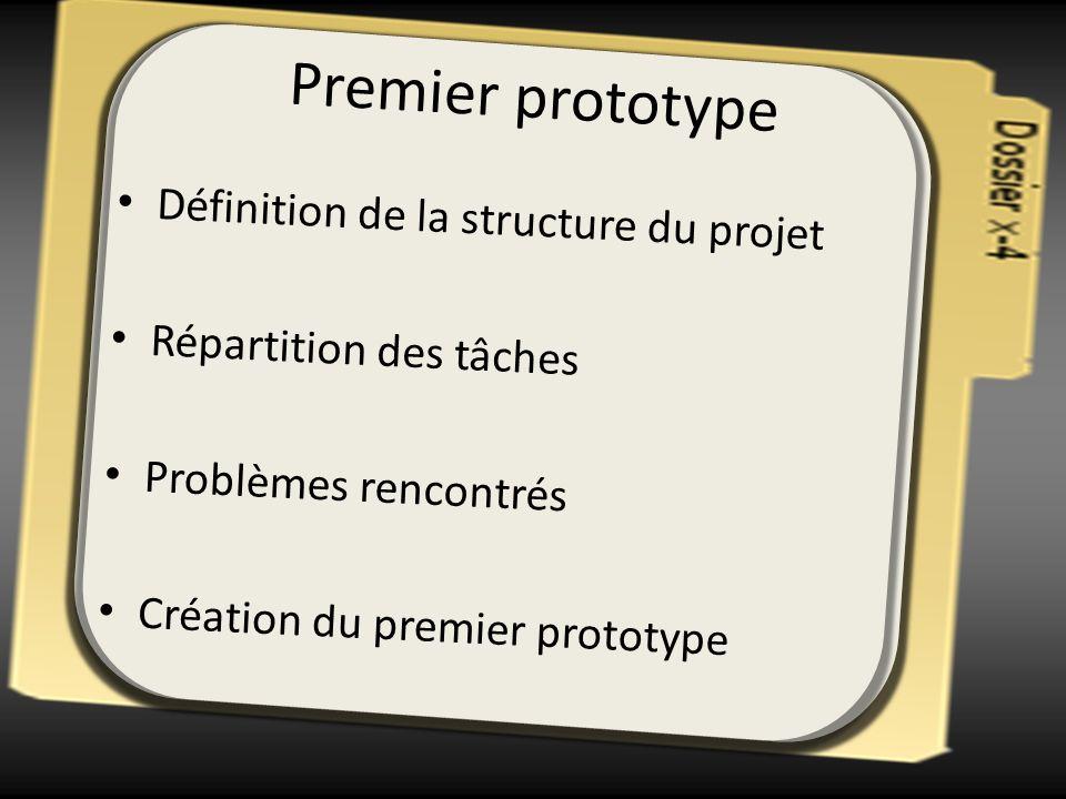 Premier prototype Définition de la structure du projet