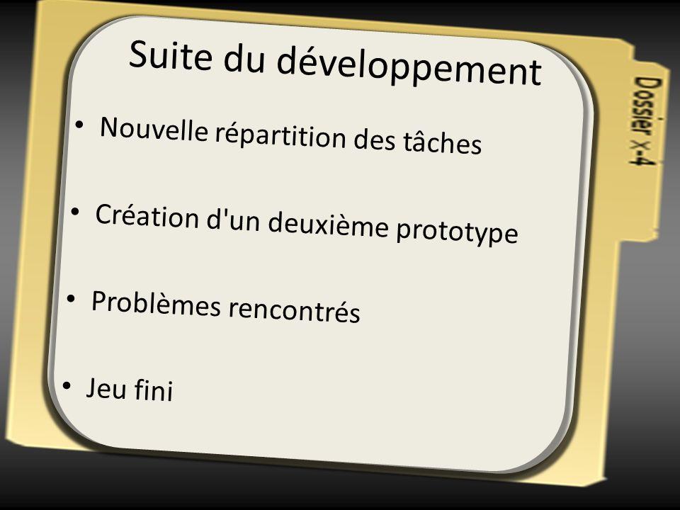 Suite du développement