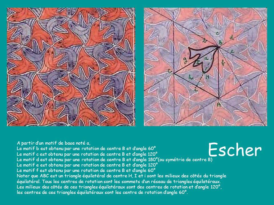 Escher A partir d'un motif de base noté a,