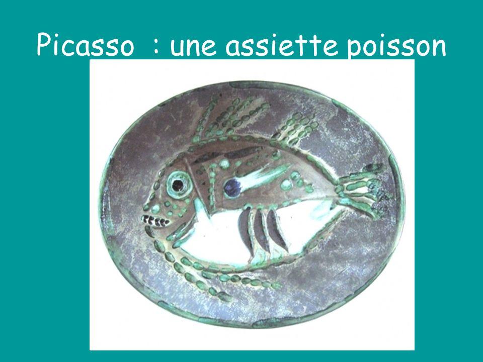 Picasso : une assiette poisson