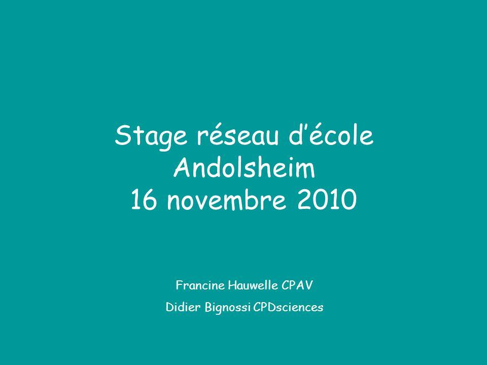 Stage réseau d'école Andolsheim 16 novembre 2010