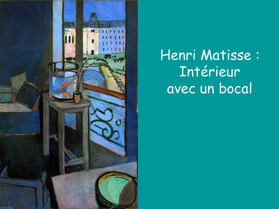 Henri Matisse : Intérieur avec un bocal
