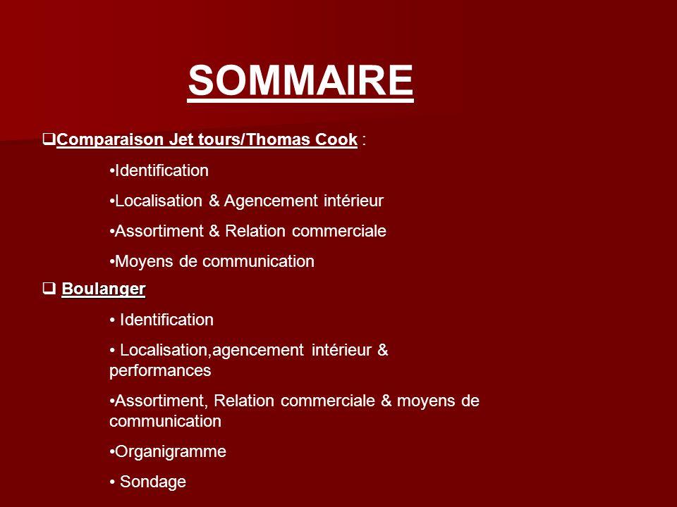 SOMMAIRE Comparaison Jet tours/Thomas Cook : Identification