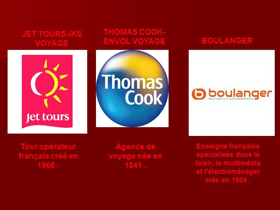 THOMAS COOK-ENVOL VOYAGE Tour opérateur français créé en 1968 .