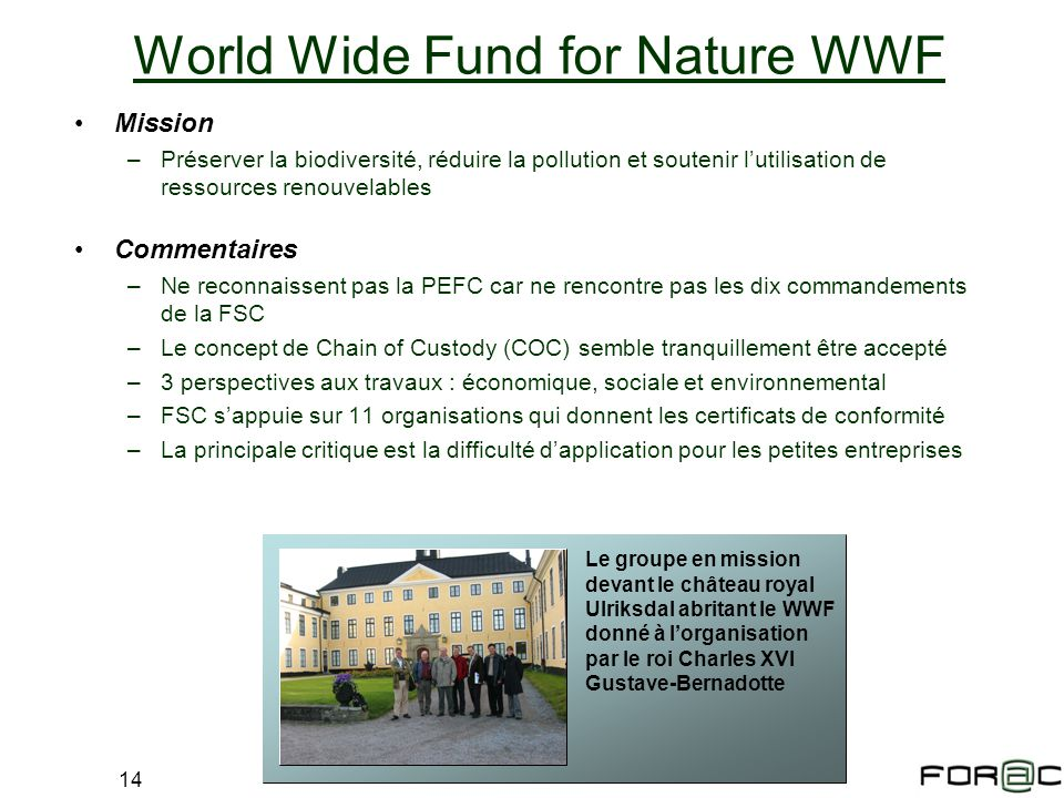 World Wide Fund for Nature WWF