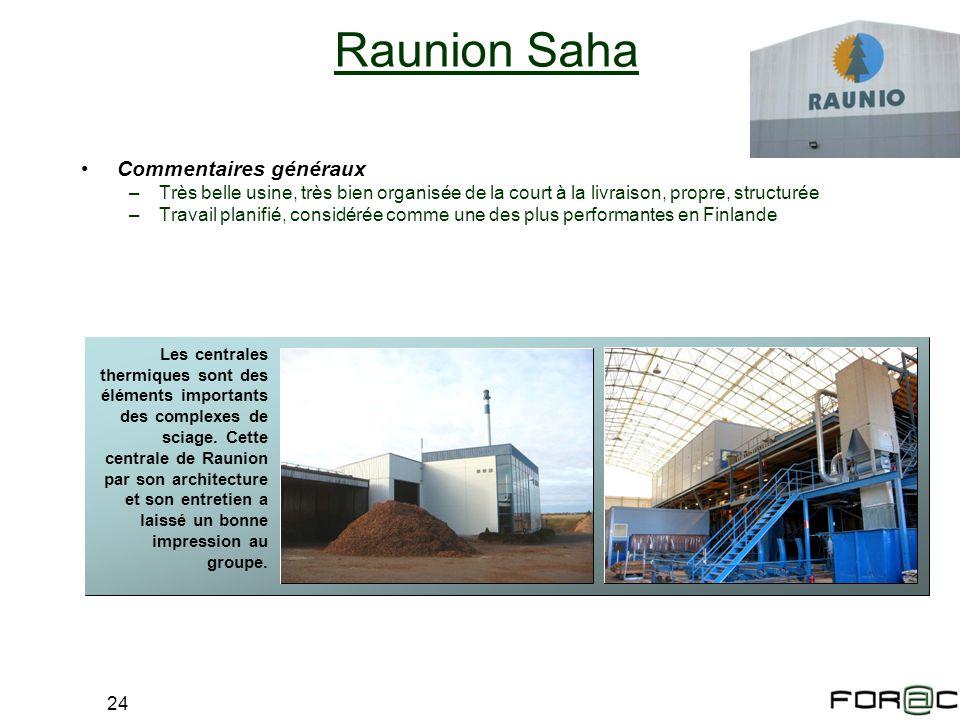 Raunion Saha Commentaires généraux