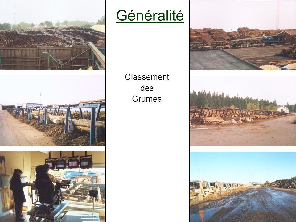 Généralité Classement des Grumes