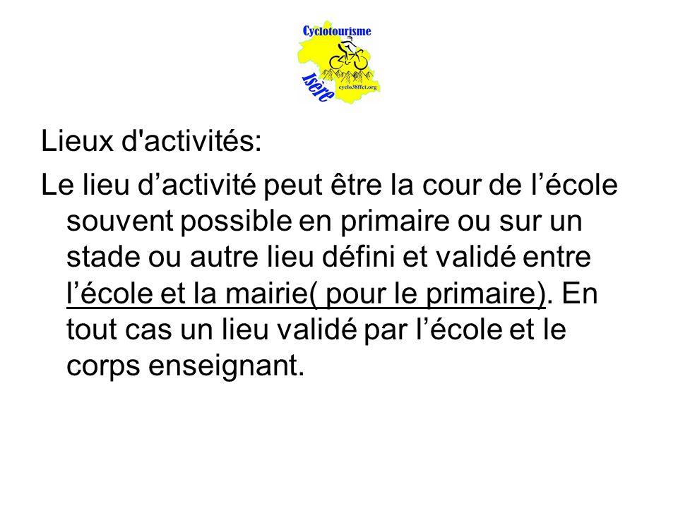 Lieux d activités:
