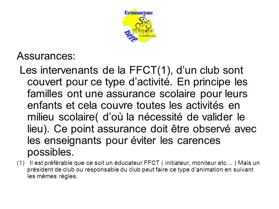 Assurances: