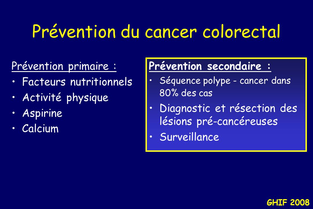 Prévention du cancer colorectal