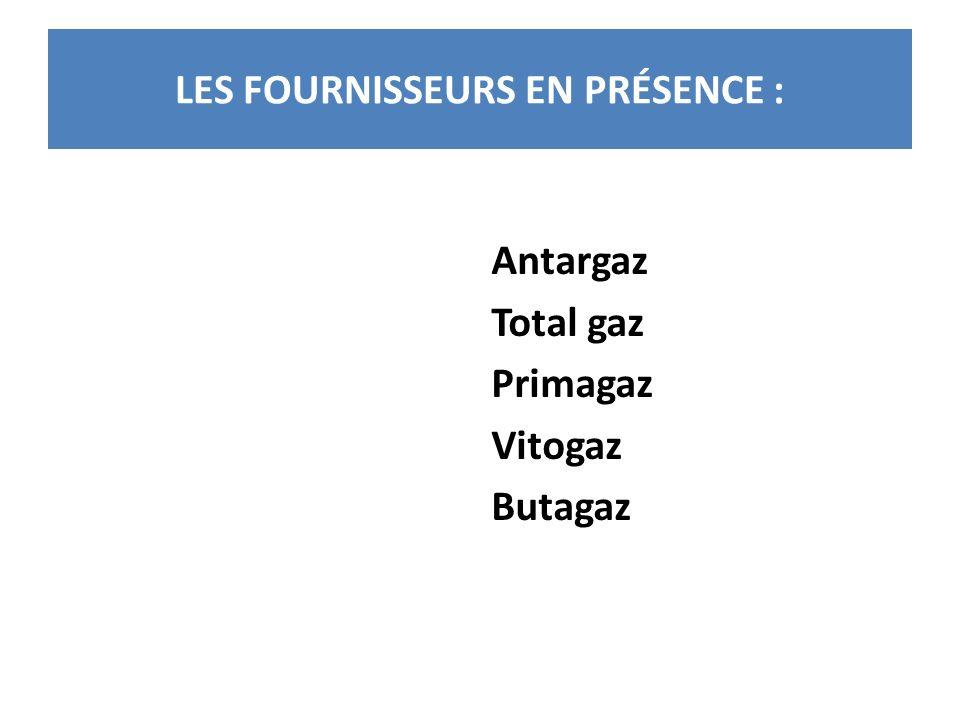 LES FOURNISSEURS EN PRÉSENCE :