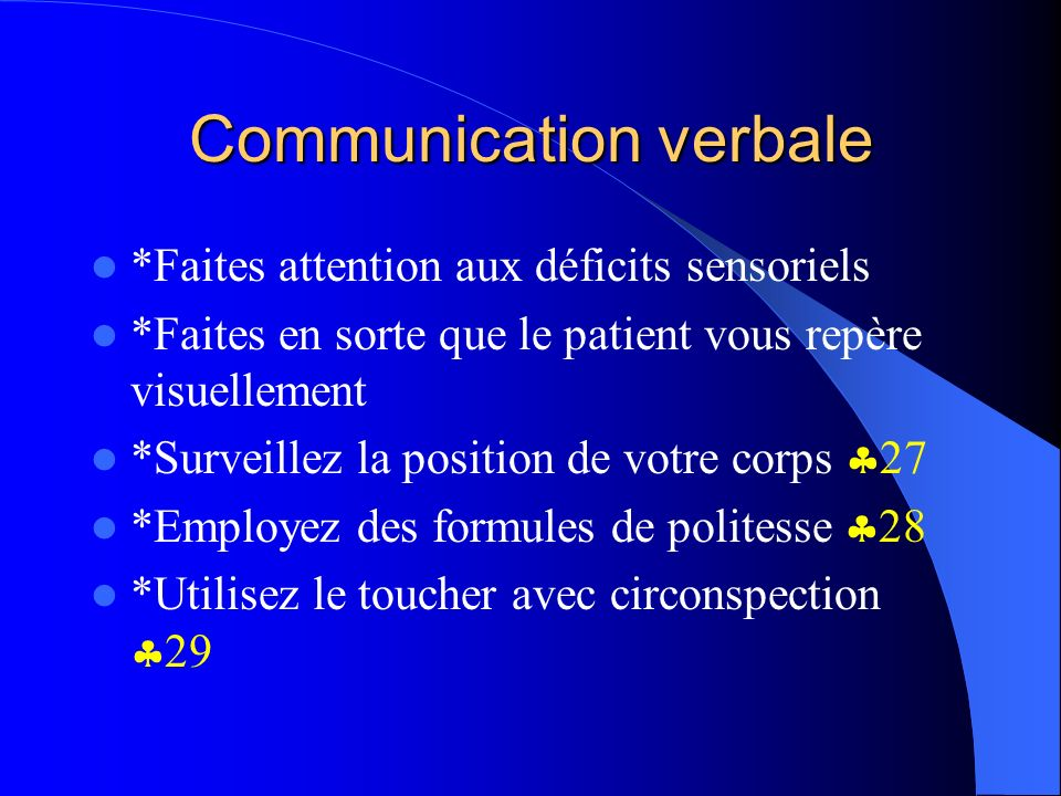 Communication verbale