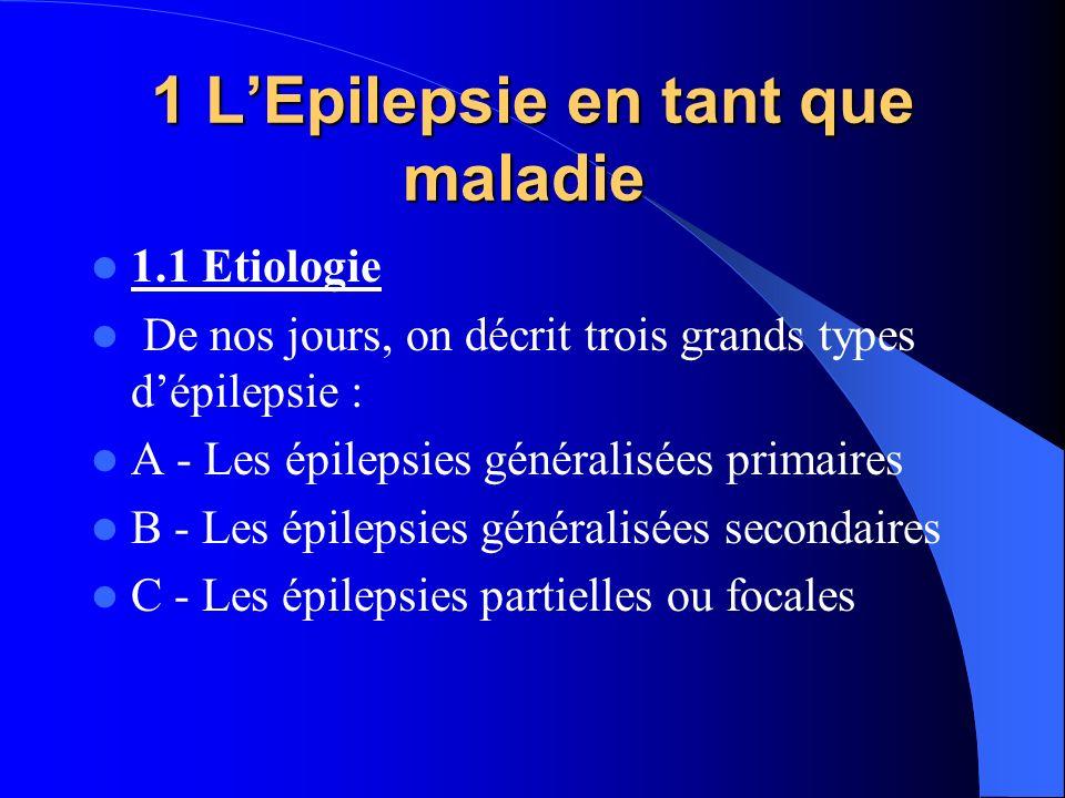 1 L'Epilepsie en tant que maladie