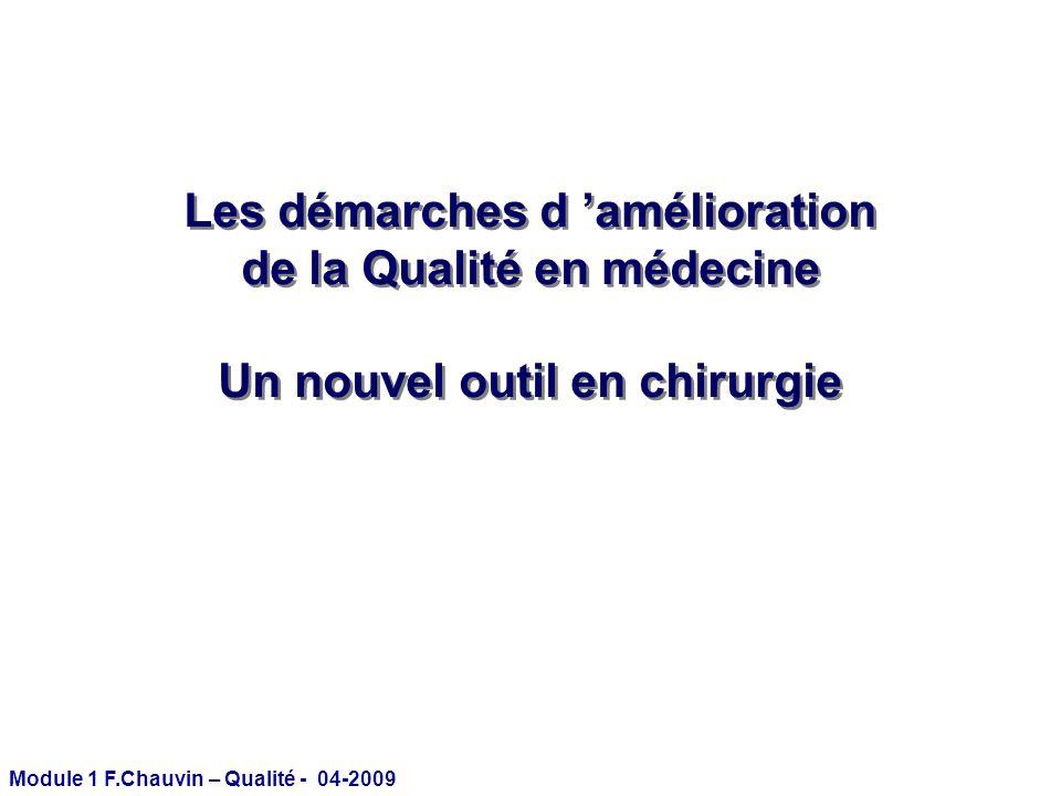 Les démarches d 'amélioration de la Qualité en médecine
